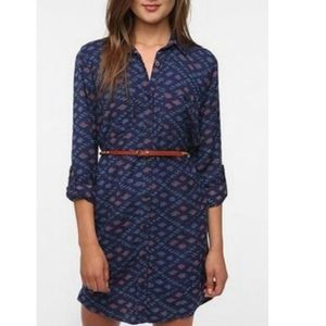 Urban Outfitters Ecoté Vagabond Blue Shirt Dress